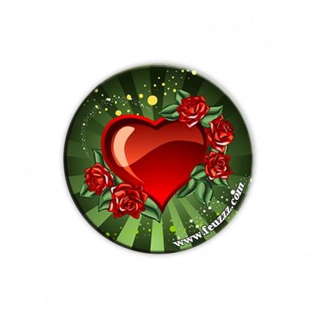 Doming coeur rose