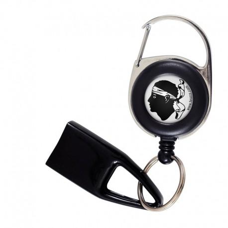 Feuzzz tête de Maure Corsica, porte briquet / clé USB / badge à enrouleur