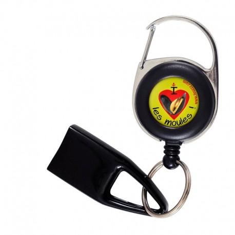 Feuzzz I love les moules , porte briquet / clé USB / badge à enrouleur