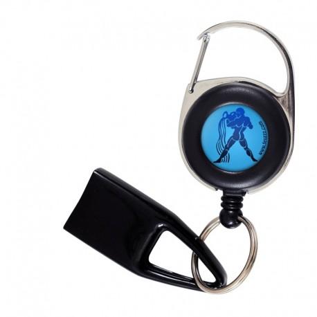 Feuzzz Signe Astro Verseau, porte briquet / clé USB / badge à enrouleur