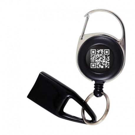 Feuzzz QR code Noir et Blanc, porte briquet / clé USB / badge à enrouleur