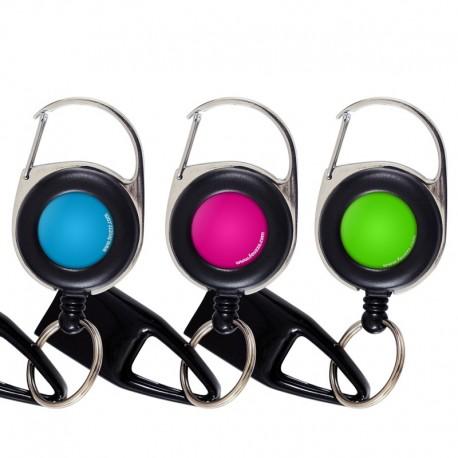Pack 3 Feuzzz couleur unie , porte briquet / clé USB / badge à enrouleur