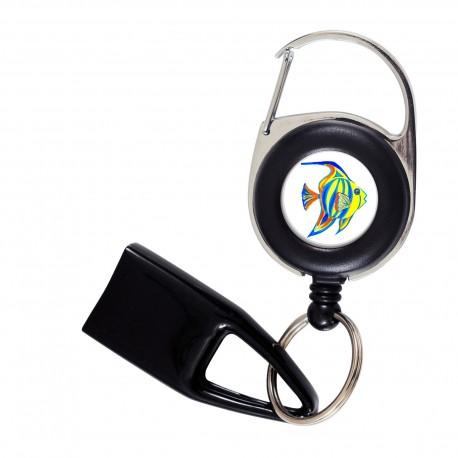 Feuzzz Poisson tropical , porte briquet / clé USB / badge à enrouleur