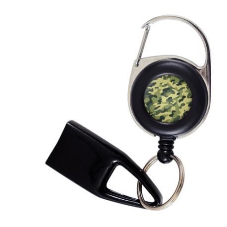 Feuzzz Camouflage, porte briquet / clé USB / badge à enrouleur