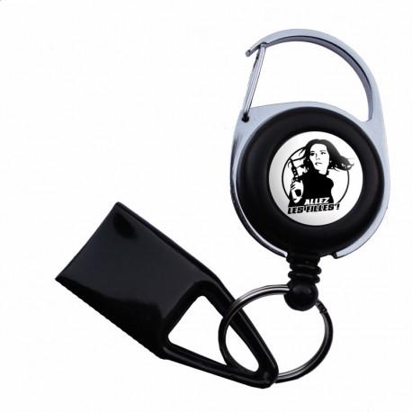 Feuzzz Allez Les Filles , porte briquet / clé USB / badge à enrouleur