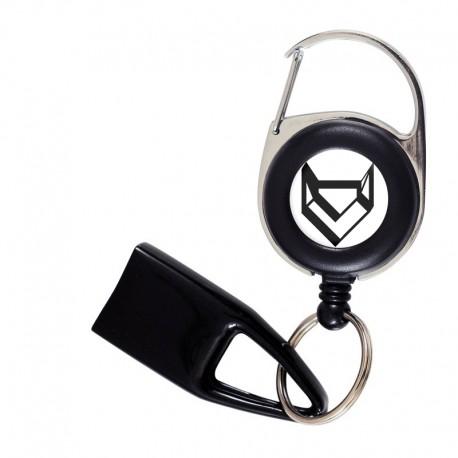 Flat Feuzzz Black Fox, porte briquet / clé USB / badge à enrouleur