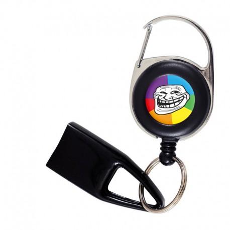 Flat Feuzzz Troll, porte briquet / clé USB / badge à enrouleur