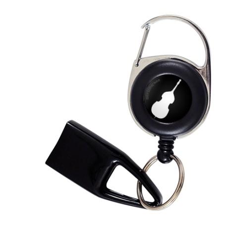 Flat Feuzzz Contrebasse, porte briquet / clé USB / badge à enrouleur