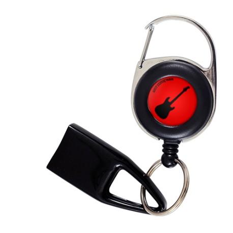 Flat Feuzzz Guitare, porte briquet / clé USB / badge à enrouleur
