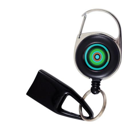 Feuzzz Circles, porte briquet / clé USB / badge à enrouleur