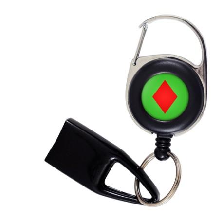 Flat Feuzzz Emma, porte briquet / clé USB / badge à enrouleur