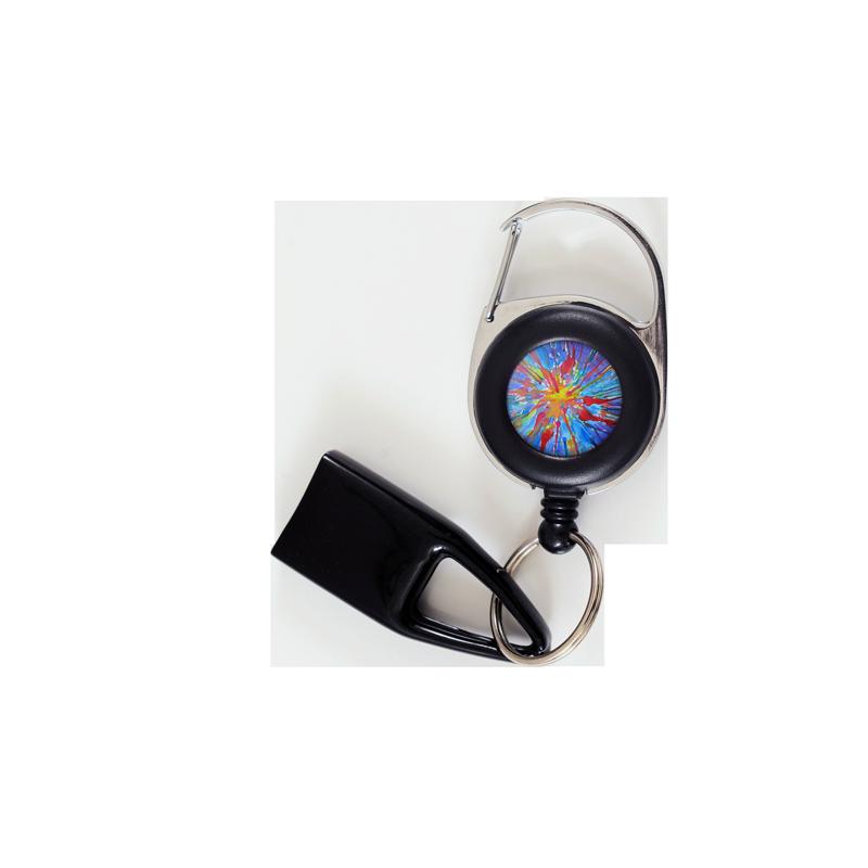 Flat Feuzzz Jackson Pollock's eye, porte briquet / clé USB / badge à enrouleur