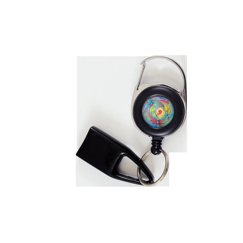 Flat Feuzzz Acid test, porte briquet / clé USB / badge à enrouleur