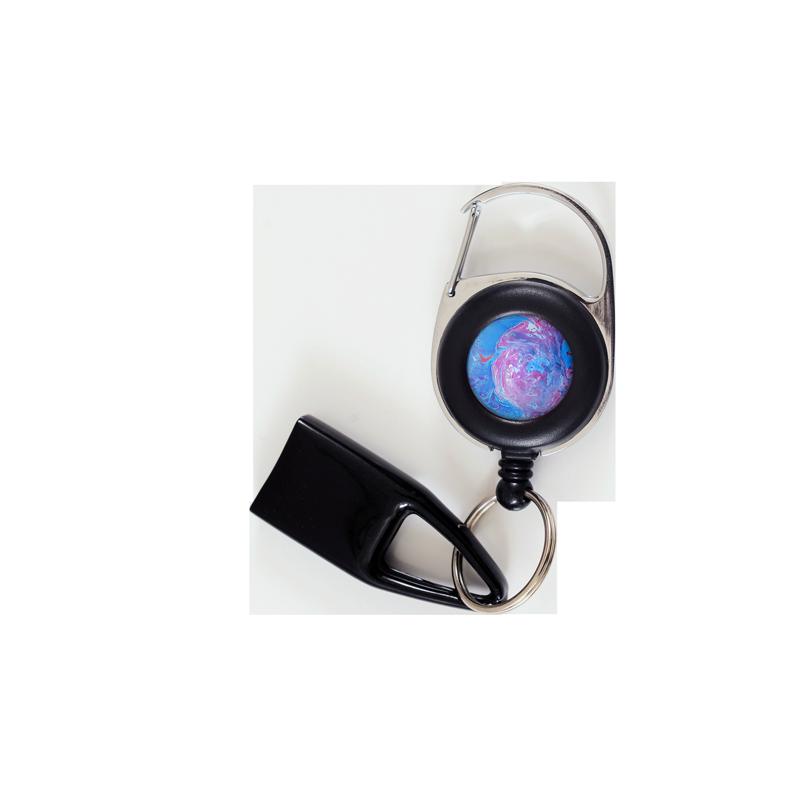 Flat Feuzzz Bulle, porte briquet / clé USB / badge à enrouleur